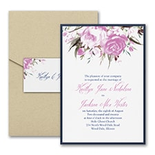 Enchanted Garden - Floral - Invitation with Pocket and Backer
