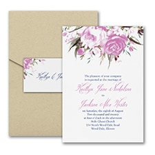 Modern wedding Invitation: Enchanted Garden