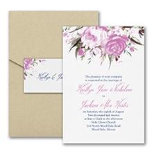 Enchanted Garden - Floral - Invitation with Pocket