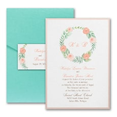 Fabulous Floral - Pocket Invitation