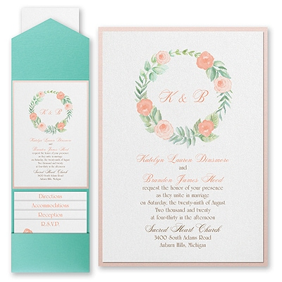 Fabulous Floral - Invitation with Pocket and Backer