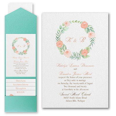 Fabulous Floral - Invitation with Pocket