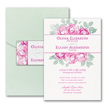 Lovely Roses - Invitation with Pocket