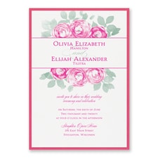 Lovely Roses - Invitation with Backer