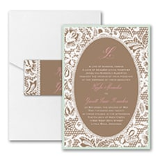 Traditional Lace - Pocket Invitation