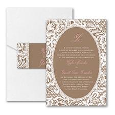 Vintage wedding invitation: Traditional Lace