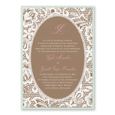 Vintage wedding invitation: Traditional Lace