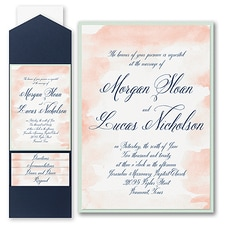 Pocket Invitation: Romantic Watercolor