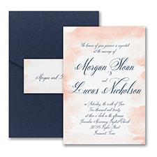 Romantic Watercolor - Invitation with Pocket