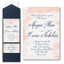 Pocket Invitation: Romantic Watercolor