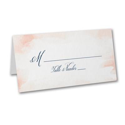 Romantic Watercolor - Place Card