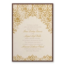 Vintage wedding invitation: Delicate Romance