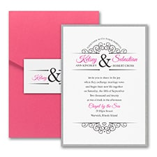Simple Heart - Invitation with Pocket and Backer