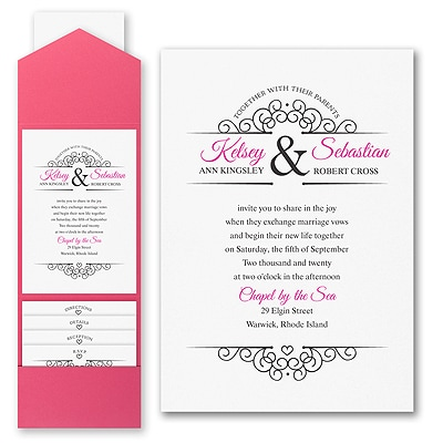 Simple Heart - Invitation with Pocket
