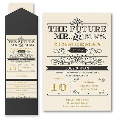 Future Promises - Invitation with Pocket