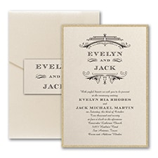 Vintage wedding invitation: Elegant Deco