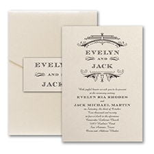 Vintage wedding invitation: Elegant Deco
