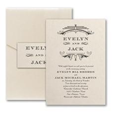 Elegant Deco - Pocket Invitation