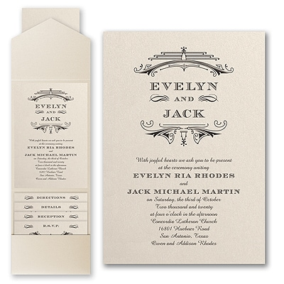 Elegant Deco - Invitation with Pocket