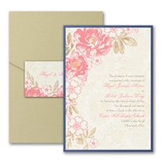 Decorative Floral - Pocket Invitation