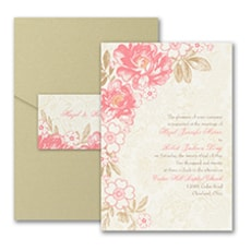 Decorative Floral - Pocket Invitation