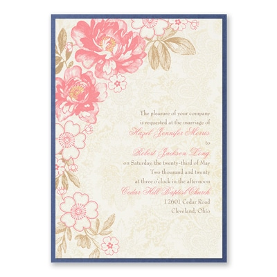 Decorative Floral - Invitation with Backer