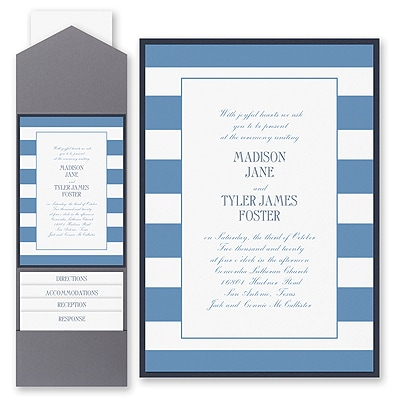 Modern Charm - Invitation with Pocket and Backer