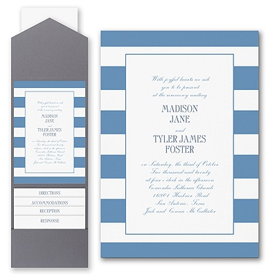 Modern Charm - Invitation with Pocket