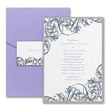 Vintage wedding invitation: Formal Flourish