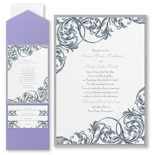 Pocket Invitation: Formal Flourish