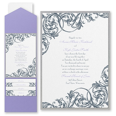 Formal Flourish - Invitation with Pocket and Backer