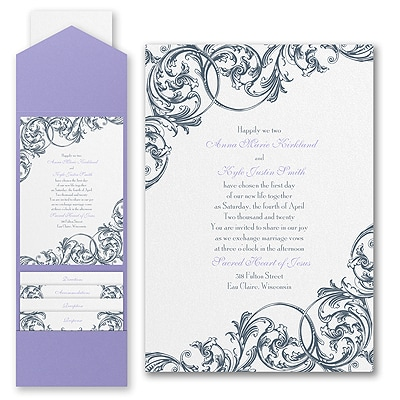 Formal Flourish - Invitation with Pocket
