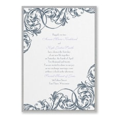 Formal Flourish  - Wedding Invitation