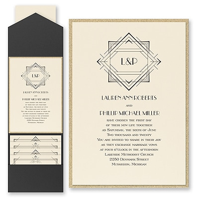 Darling Deco - Invitation with Pocket and Backer