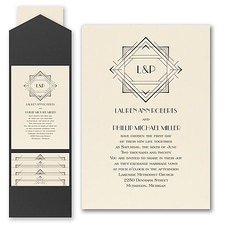 Vintage wedding invitation: Darling Deco