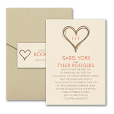 Pocket Invitation: Modern Love