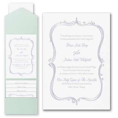 Whimsical Elegance - Invitation with Pocket