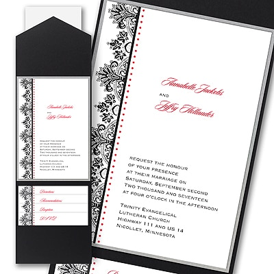 Regal Flourishes - Layered Pocket Invitation