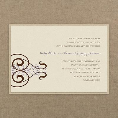 stately scrolls layered invitation wedding invitations carlson