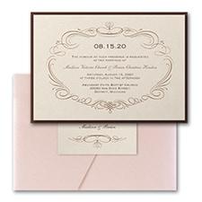 Elegant Swirls - Invitation with Pocket and Backer