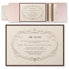 Pocket Invitation: Elegant Swirls