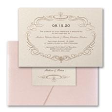 Elegant Swirls - Wedding Invitation
