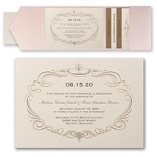 Wedding Invitation: Elegant Swirls