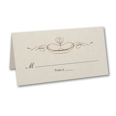 Elegant Swirls - Place Card