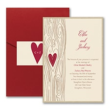 Woodsy Romance - Invitation with Pocket and Backer
