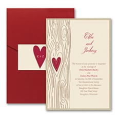 Woodsy Romance - Pocket Invitation