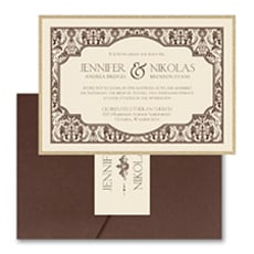 Delightful Damask - Pocket Invitation
