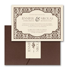 Pocket Invitation: Delightful Damask