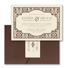 Delightful Damask - Pocket Invitation