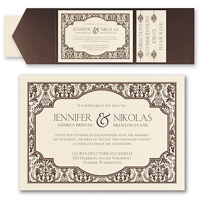 Delightful Damask - Invitation with Pocket